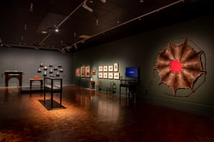 Julie Gough's work is displayed among artefacts from the genocidal Black War, in an exhibition that lands like a punch in the stomach.