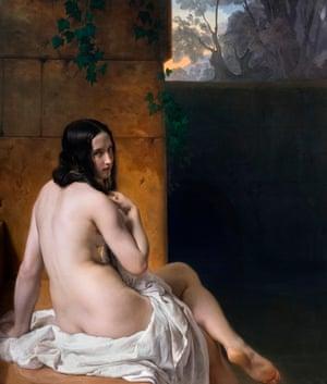 Susanna at her Bath (1850) by Francesco Hayez (1791-1882)