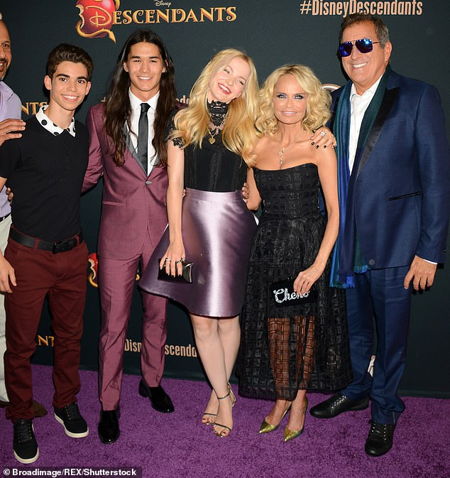Cameron was no stranger to the young carpet and often graced them from a young age. Pictured at the Descendants Premiere, from left:Cameron Boyce, Boo Boo Stewart, Dove Cameron, Kristin Chenoweth and Kenny Ortega