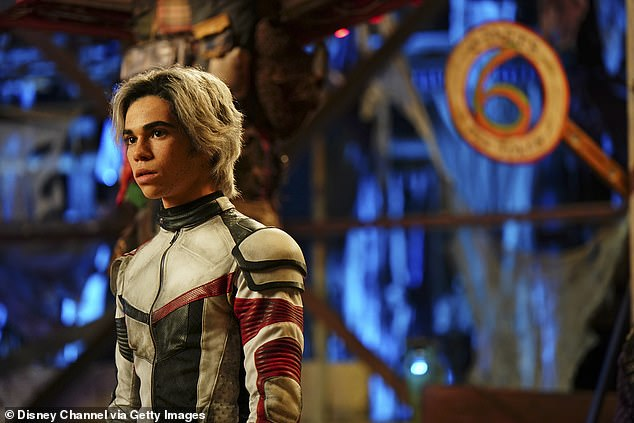 Los Angles native Boyce, also starred in animated versions of Marvel's Spider-Man and was loved for his role as Carlos De Vil, the son of Cruella, in the Disney movie franchise the Descendants (pictured)