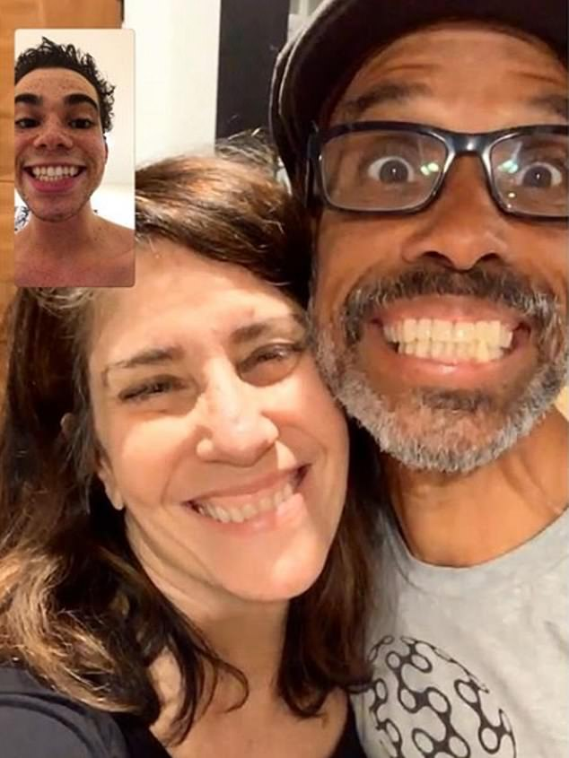 Cameron was born in May 1999 and grew up in Los Angles with his parents Libby and Victor Boyce and his actor sister Maya. He shared this touching picture of a FaceTime call with his parents to his Instagram page in June