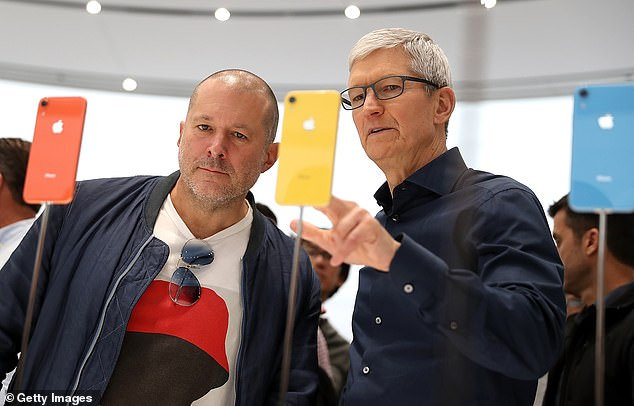 Ahead of the blockbuster announcement that Apple's iconic designer Jony Ive (left) would be leaving his post at Apple, a new round of reports reveals Ive was increasingly absent. But Tim Cook (right) says reports of tensions are 'absurd'