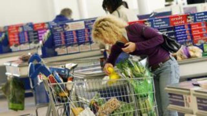 Shopper in Tesco