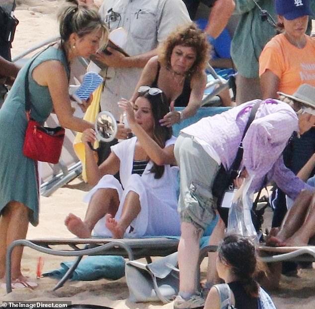Maintenance: During that portion of the day, Lea got to settle down on a deck chair too and appeared to be having her makeup touched up