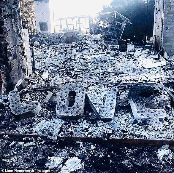 Cyrus bonded deeply with Hemsworth after their $2.5M two-story Malibu compound burned down in the Woolsey Fire in November