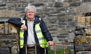 Prof David Austin at Strata Florida Abbey.