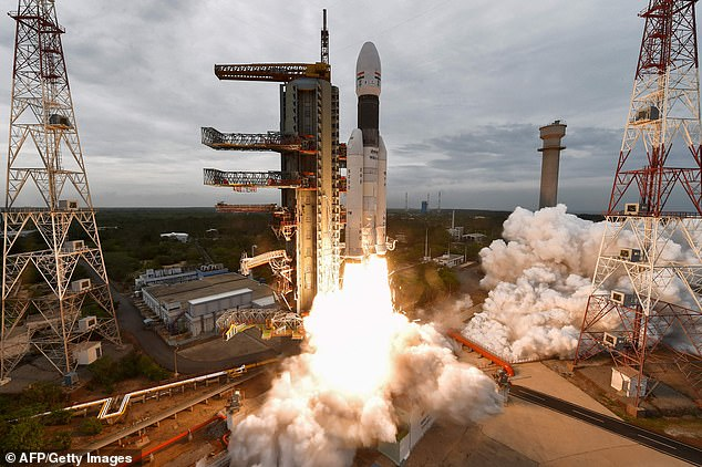 Launch: ISRO's Chandrayaan-2 being launched from the Satish Dhawan Space Centre in Sriharikota, an island off the coast of southern Andhra Pradesh state