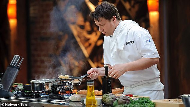 Back at HQ! If he was to be offered a role, it wouldn't be the first time Jamie graces the MasterChef kitchen, as he was a season four guest chef back in 2012 (pictured)