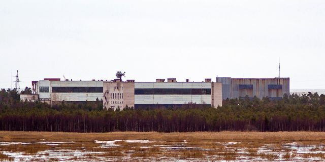 Buildings at a military base in the town of Nyonoska, Russia, the site of an accident during a test of a nuclear-powered engine where at least 5 people were killed earlier this month.