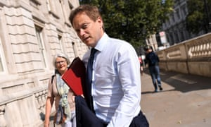 Grant Shapps, secretary of state for transport, arrives at the Cabinet Office.