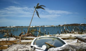Damaged caused by Hurricane Dorian in Marsh Harbour, Great Abaco Island, on 5 September.