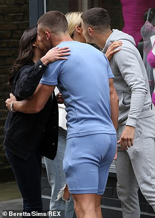Co-stars:The two TOWIE babes were joined by co-stars Tom McDonnell and Harry Lee during filming