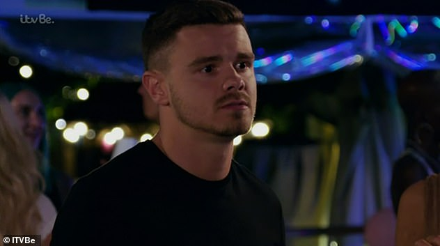 Scorned: Viewers watched the explosive row, which started when Tom confronted Shelby after learning she had dumped him to reignite her romance with Sam Mucklow