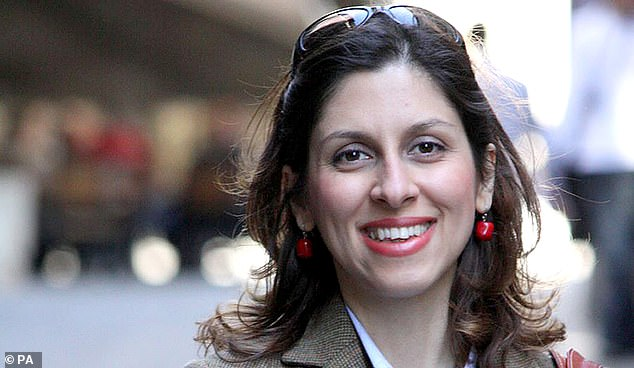The blogger has been detained in a ward for female political prisoners where Mrs Zaghari-Ratcliffe (pictured), is currently held