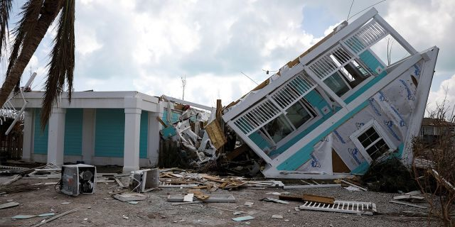 A devastated house is seen after Hurricane Dorian hit the Abaco Islands in Treasure Cay, Bahamas, September 7, 2019. (REUTERS/Marco Bello)