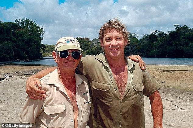 'Once we lost Steve those were difficult times and a lot of it all I wanted to forget, I suppose,' he admitted on ABC's Australian Story in 2015.  Pictured with his son in early 2000s