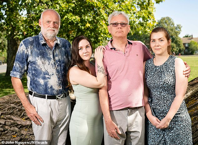Andy Hammond (2nd left), brother of Paul (1st right) does not share his brothers condition, neither does Pauls daughter Catherine (2nd right) leaving Jennifer the only unknown