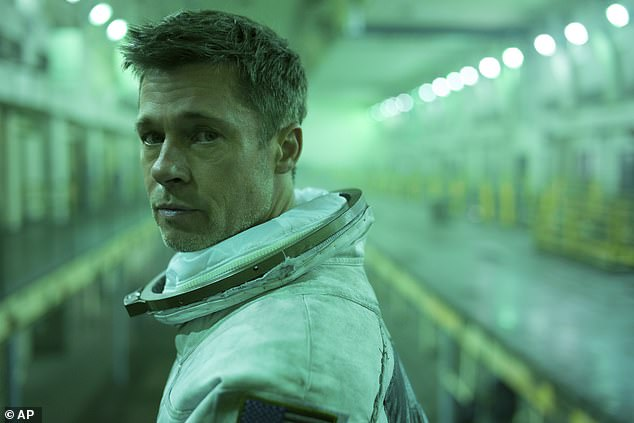 Thriller: In Pitt's latest film, he portrays astronaut Roy McBride on a mission to uncover truths about the solar system and his missing father after his failed expedition nearly 30 years ago