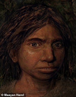 This is one of the first reconstructions of what our ancient relatives Denisovans looked like (pictured)