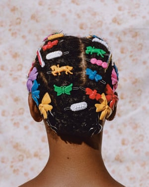 Adeline In Barrettes, 2018, by Micaiah Carter.