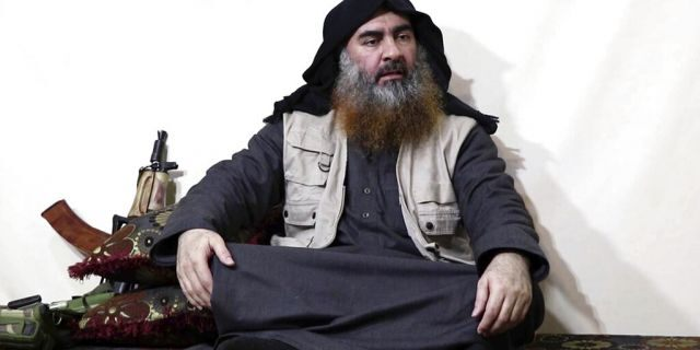 This 2019 image purports to show the leader of the Islamic State group, Abu Bakr al-Baghdadi, being interviewed. <br>