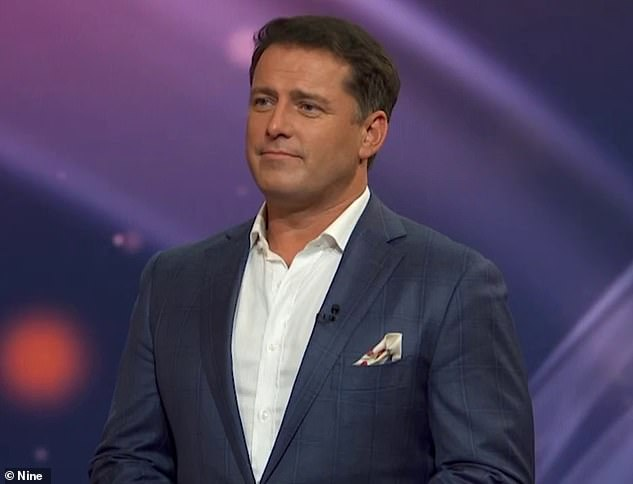 'Damn, girl!' Karl Stefanovic (pictured) was left stunned on Monday's episode of This Time Next Year after a morbidly obese woman shed 40kg following the breakdown of her marriage