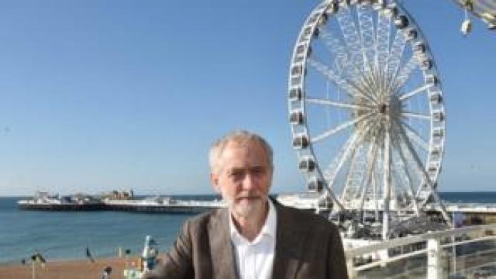 Jeremy Corbyn in Brighton in 2015