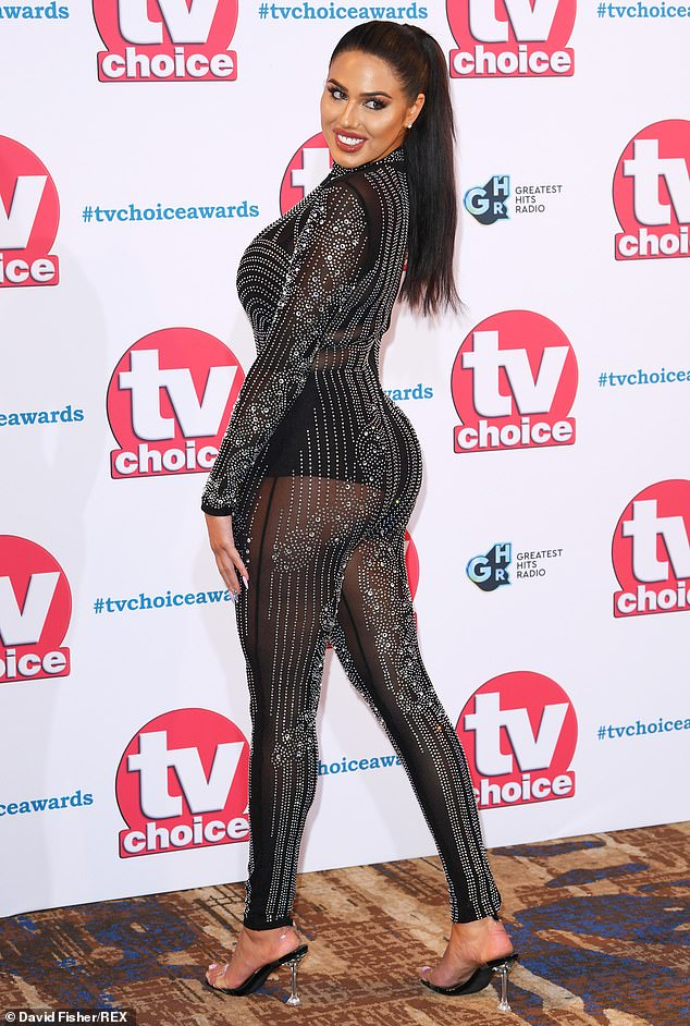 Wow factor: Anna Vakili put on a jaw-dropping display as she joined her BFF Amber Rose Gill at the TV Choice Awards, held at The Hilton on Park Lane, on Monday