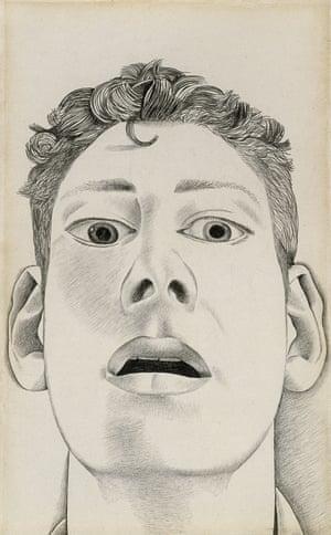 Startled Man: Self Portrait, 1948, by Lucian Freud.