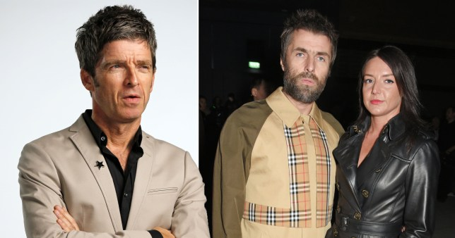 Noel Gallagher Liam Gallagher and Debbie