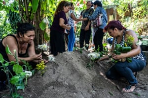 The burial and wake for Jose Luis, an 11 year-old boy who was murdered by members of the La 18 gang