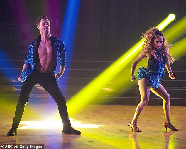 Freestyle dance: Sasha and Ally for their freestyle performed an explosive Latin freestyle to Miami Sound Machine's Conga
