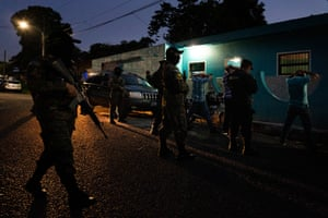 Police raid a brothel and bar in Lourdes Colon in the department of La Libertad