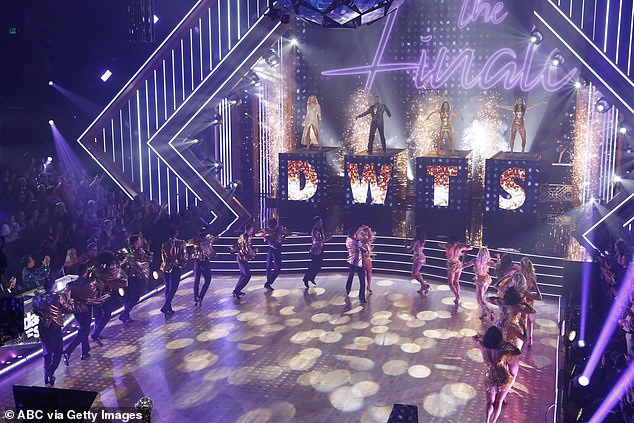 Four finalists: Lauren Alaina, Kel Mitchell, Hannah and Ally Brooke opened the show with a group dance