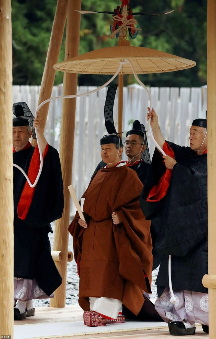 The ritual ceremony marks the end of major rite rituals following the emperor's enthronement