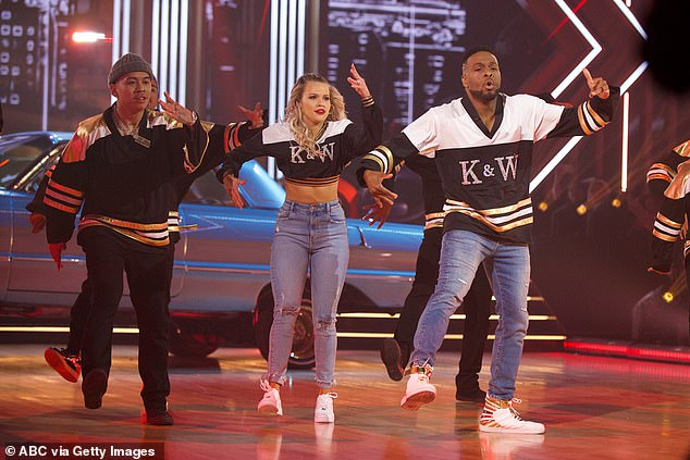 Freestyle dance: Witney and Kel performed a
