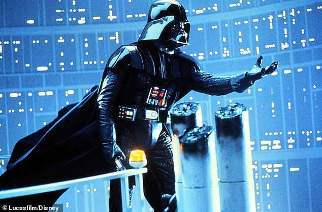 Bad guy: Here Vader is seen in the 1980 movie The Empire Strikes Back