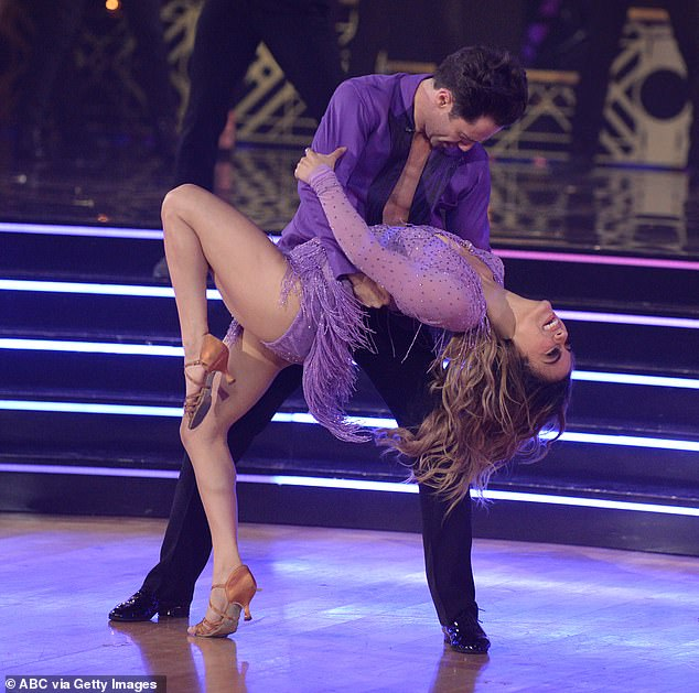 First up: Ally and Sasha Farber got the show started with a jive to Tina Turner's Proud Mary