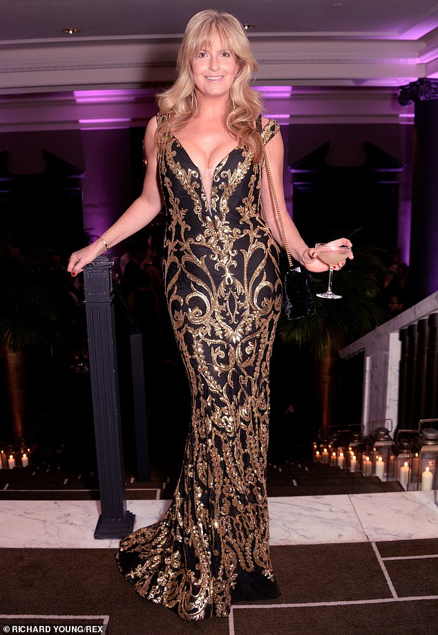 Busty: The star's maxi dress stole the show at the charity event, which was held to raise money for the Teenage Cancer Trust
