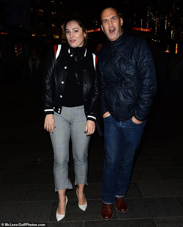 Reunited:Fans of a certain age were reminded of Old Ford Lock on Monday evening as Kelly Brook reunited with former Big Breakfast co-host Johnny Vaughan in London