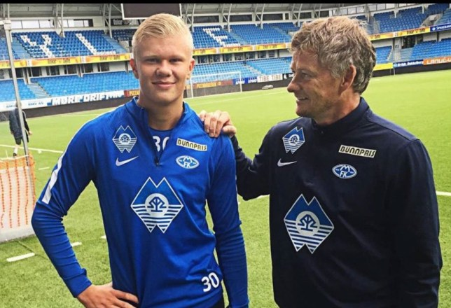Erling Braut Haaland met with Manchester United boss Ole Gunnar Solskjaer on Friday