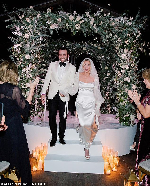 Man and wife!Erin Foster has shared the official photos from her lavish New Year's Eve wedding to husband Simon Tikhman