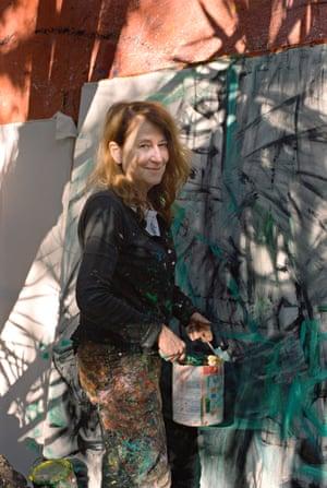 Wilderness … Vivian Suter works at her lakeside studio in Guatemala.