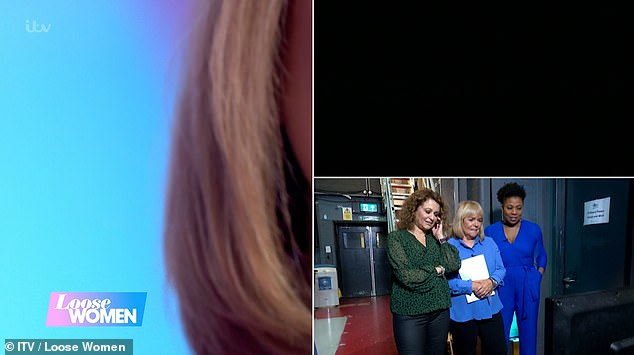Kaye revealed: 'They all pulled this ultimate prank on me earlier. Take a look at this - this is me genuinely thinking that I am doing a live promo to This Morning while all chaos is going on'