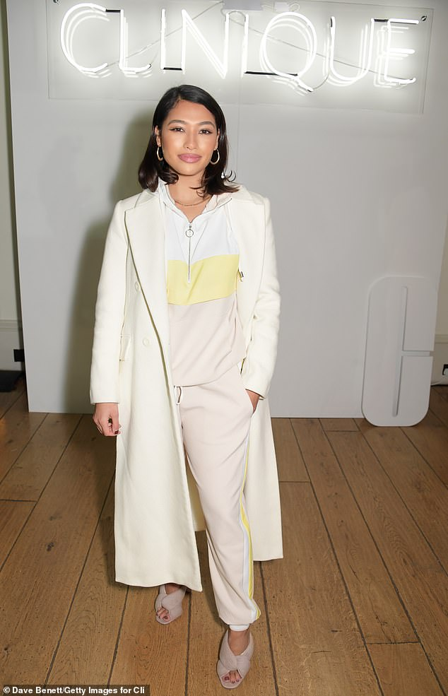 Mixing it up:Also in attendance at the beauty bash was former The Saturdays star Vanessa White
