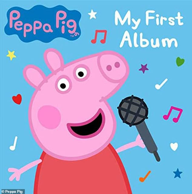Tunes: The claims were over song Peppa's Party Time which appears on Peppa Pig: My First Album (cover pictured) and includes lyrics about jumping in muddy puddles