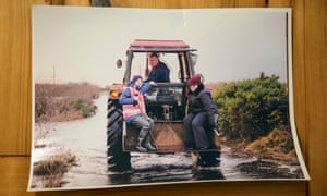 A photo of Michael Fitzmaurice on a tractor