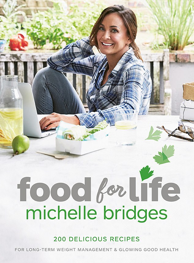 Popular: Michelle is a TV personality, author and celebrity personal trainer who appeared on The Biggest Loser. Pictured: Michelle's 2016 book, Food For Life