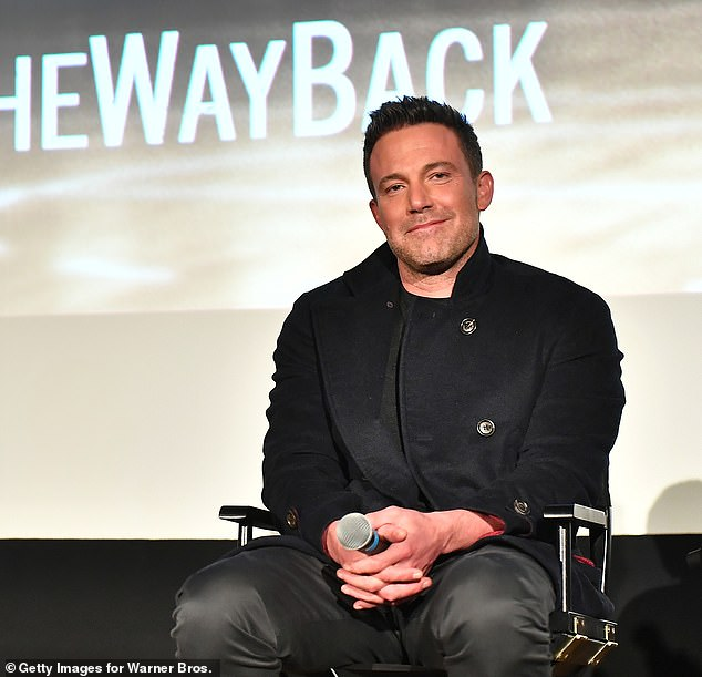 'Five years from now Ben Affleck is sober and happy' Ben Affleck talked about his hopes for the future in his interview with Diane Sawyer. He is pictured on Wednesday at a screening for The Way Back
