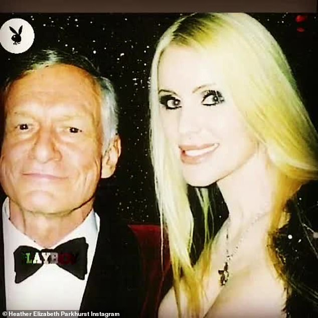 She was in the mansion: The star seen here with the late Hugh Hefner during a Playboy event